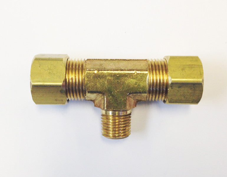 Tube to Thread Branch Tee Fittings (Compression Brass)