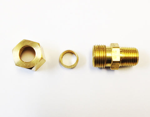 Tube to Thread Straight Fittings (Compression Brass)