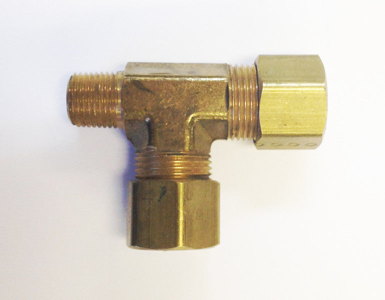 Tube to Thread Run Tee Fittings (Compression Brass)