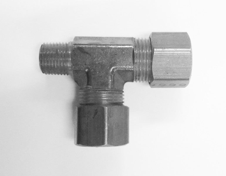 Tube to Thread Run Tee Fittings (Compression Stainless Steel)