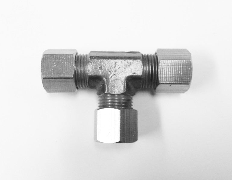 Tube to Tube Tee Fittings (Compression Stainless Steel)