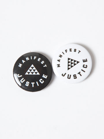 MANIFEST JUSTICE (LOGO) BUTTONS