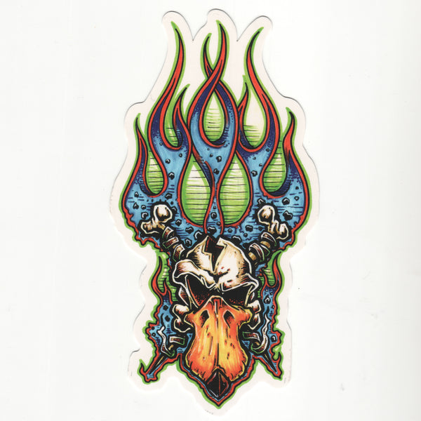 Flaming Skull Decal