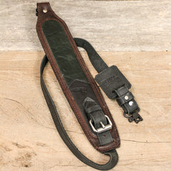 Gun Strap - Green/Brown Buckled