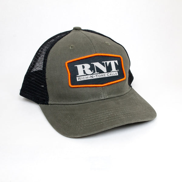 RNT Olive/Black Patch Hat - NEW