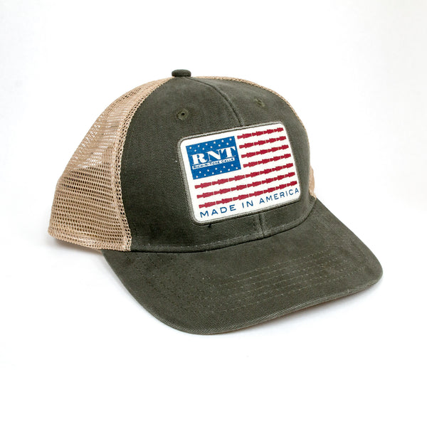 RNT American Flag Patch Hat - NEW