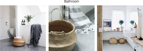 Seagrass Belly Basket | Panier Boule | Bathroom Storage