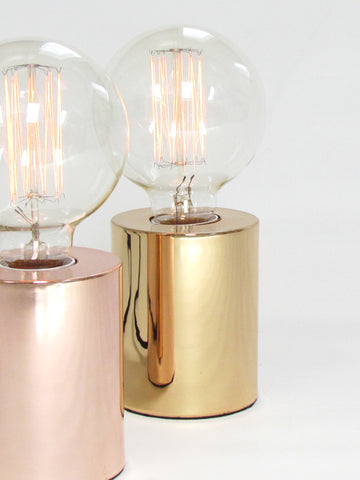 Sil Table Lamps | Rose Gold and Brass