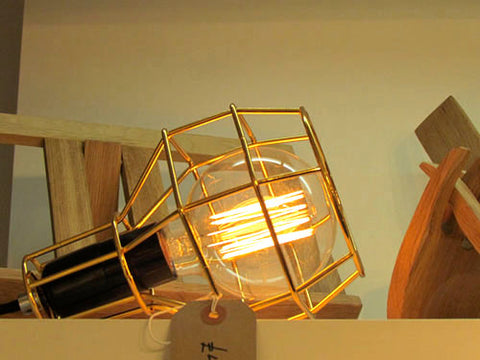 Gold Cage Lamp Light | That Lighting Shop