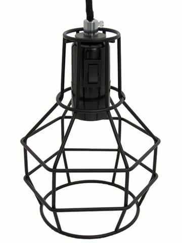 Black Cage Lamp detail