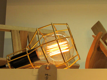 Gold Cage Lamp Lifestyle