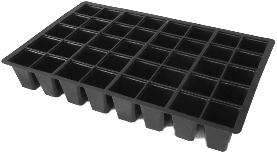 40-Cell Seed Insert Trays - 100% Recycled Plastic - pack of 6