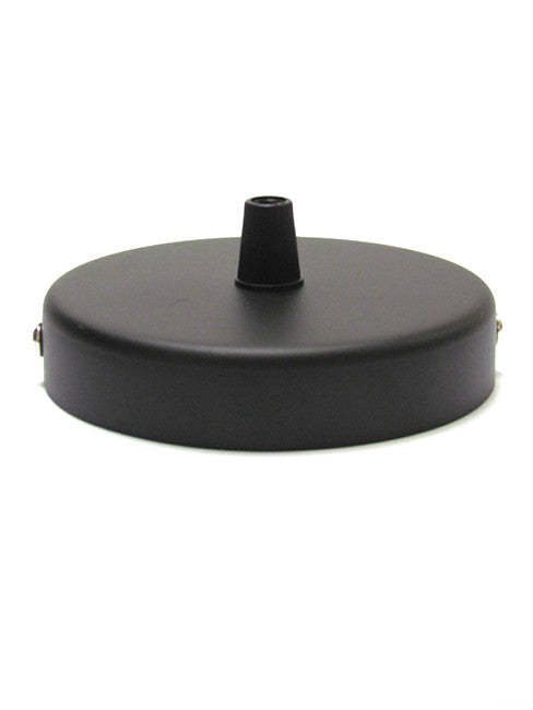 Black Single Point Metal Ceiling Rose