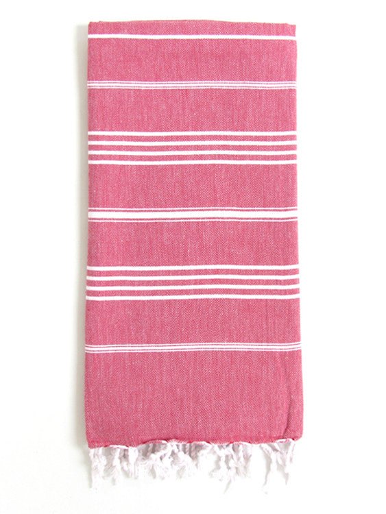 Cali Hammam Towel, Red