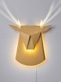 Cardboard Deer Head LED Wall Lamp, with plug