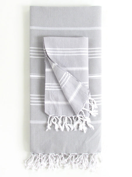 Cali Hammam Bath Towel Set, Grey