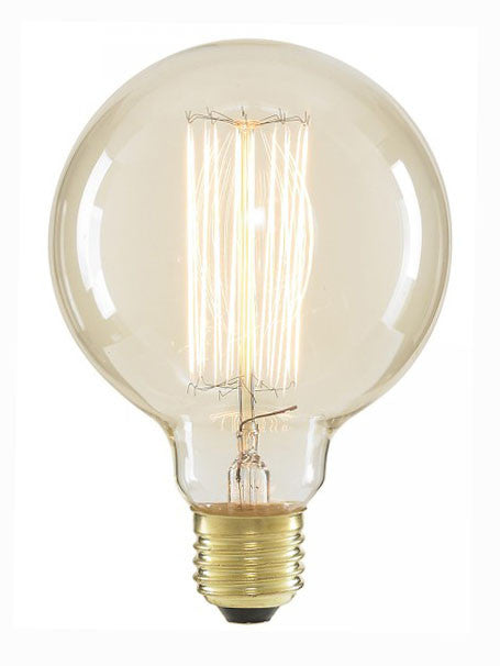 Vintage Globe G95 Squirrel Cage Filament Light Bulb, E27 40w