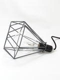 Diamond Cage Lamp Grey