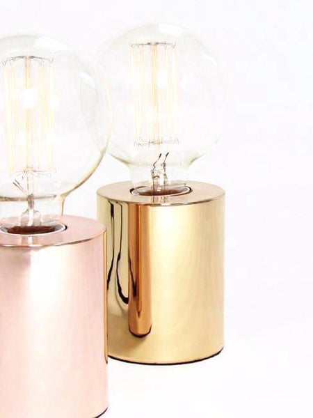 Rose Gold Copper Table Lamp, Bedside, Desk Lamp