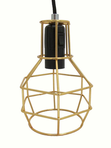 Cage lamp, Gold