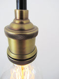 Antique Brass Pendant Light Fitting