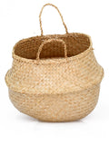 Seagrass Belly Basket, Natural, Medium