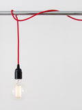 Bakelite Pendant Light Set, Red