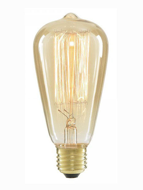 Vintage Tear Drop Squirrel Cage Filament ST64 Light Bulb, Edison E27 40w
