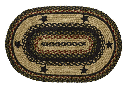 Tartan Star Braided Oval Rug - 5ft. x 8ft.