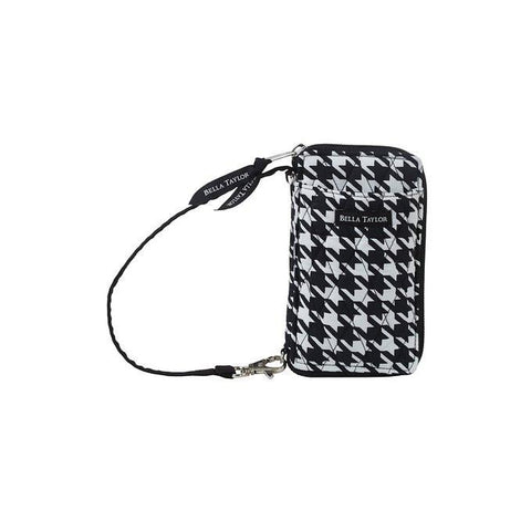 Carmine Houndstooth All-In-One-Wristlet