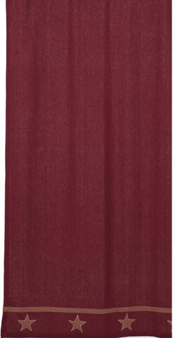 Soft Cotton Burlap Star Wine - Burgundy Shower Curtain