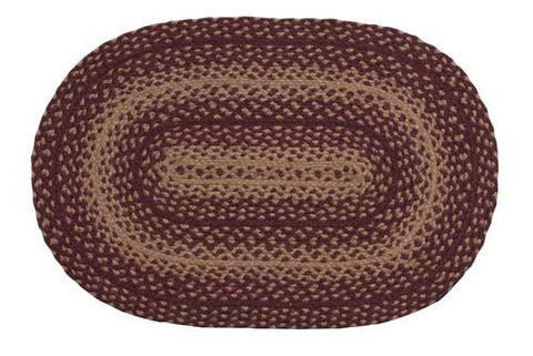 Vintage Star Braided Oval Rug - 26in. x 60in.