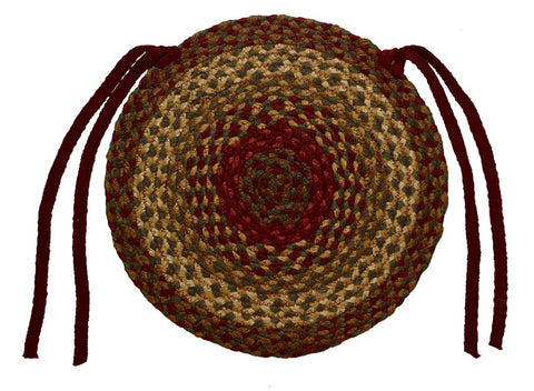 Cinnamon Braided Chair Pad - Set of 2