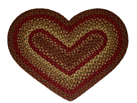 Cinnamon Braided Heart Rug