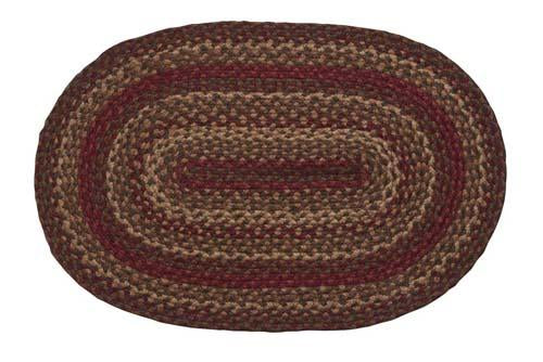 Cinnamon Braided Oval Rug - 6ft. x 9ft.