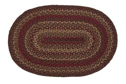 Cinnamon Braided Oval Rug - 22in. x 72in.