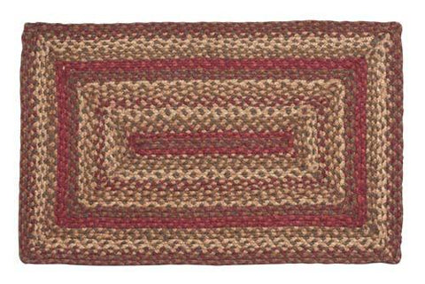 Cinnamon Braided Rectangle Rug - 27in. x 48in.