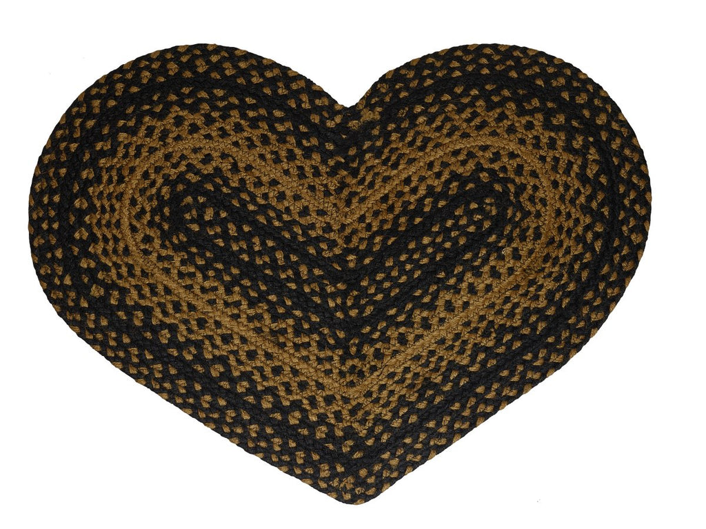 Ebony Braided Heart Rug