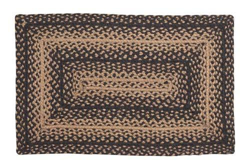 Ebony Braided Rectangle Rug - 36in. x 60in.