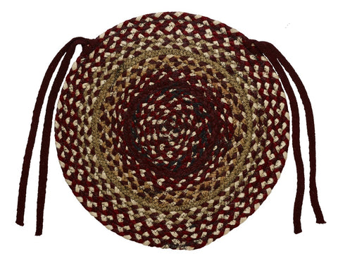 Checkerberry Braided Chair Pad - Set of 2