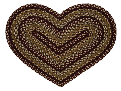 Checkerberry Braided Heart Rug