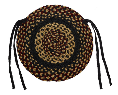 Blackberry Braided Chair Pad - Set of 2