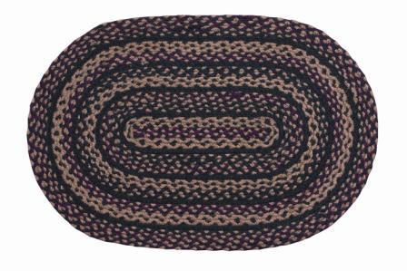 Blackberry Braided Oval Rug - 22in. x 72in.
