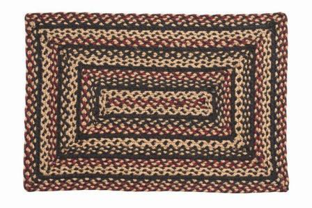 Blackberry Braided Rectangle Rug - 22in. x 72in.