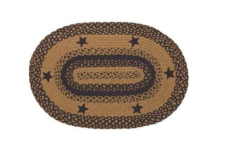 Star Black Braided Oval Rug - 27in. x 48in.