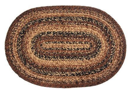 Cappuccino Braided Oval Rug - 22in. x 72in.