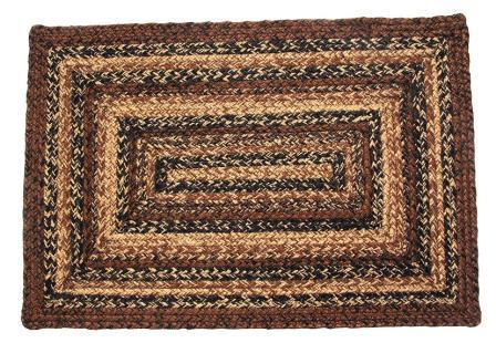 Cappuccino Braided Rectangle Rug - 4ft. x 6ft.