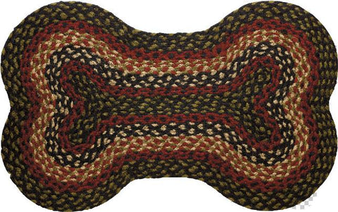 Tartan Braided Dog Bone Braided Rug