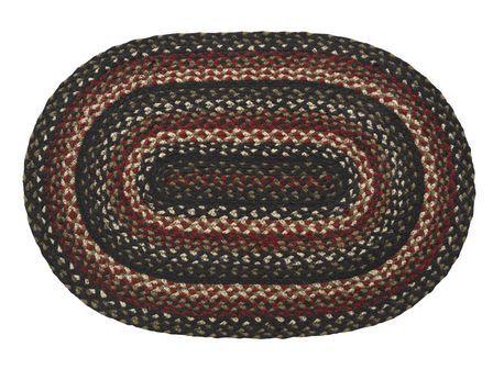 Tartan Braided Oval Rug - 36in. x 60in.
