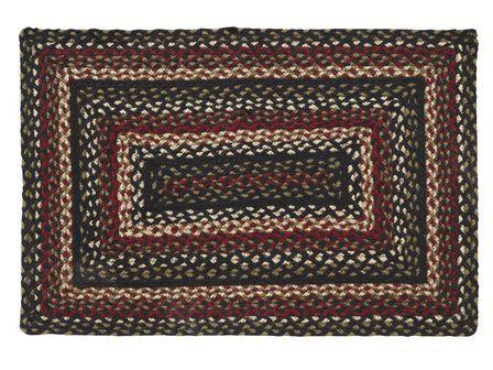 Tartan Braided Rectangle Rug - 20in. x 30in.